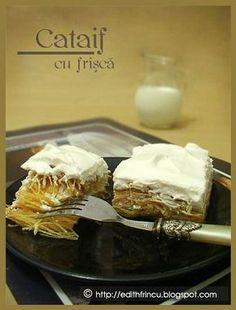 CATAIF- Cataiful este o reteta cu specific Turcesc, intalnita si in Grecia si in alte tari orientale. Traditional el se face sub forma de rulouri si umple cu alune Edith's Kitchen, Oriental, Eat Dessert First, My Recipes, Pie, Pudding, Sweets, Cookies, Breakfast