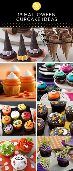 Need inspiration for Halloween desserts? Don't worry, whether you're a beginner or an expert baker, we have you covered from spooky cakes and cookies to festive Halloween treats. Here are some of our favorite spooky and cute Halloween cupcakes! food e Halloween Desserts, Menu Halloween, Halloween Torte, Postres Halloween, Halloween Donuts, Halloween Cake Pops, Cute Halloween, Homemade Halloween Treats, Halloween Cupcakes Decoration