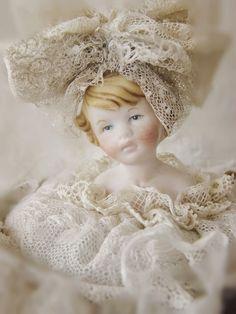 Sweet Lace Embellished Doll ~