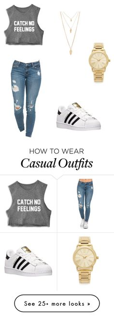"""casual"" by precious-boo on Polyvore featuring мода, adidas, Forever 21, Michael Kors, women's clothing, women, female, woman, misses и juniors"