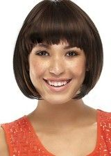 Opulence #1B/30 Short Silky Straight 100% Remy Human Hair Glueless Full Lace Wig