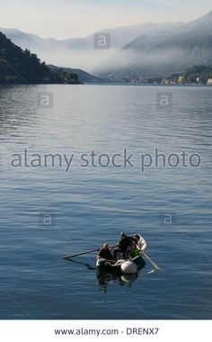 Fishermen,center Lake,varenna,lake Como, Italy Stock Photo, Picture And Royalty Free Image. Pic. 66092719