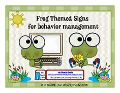 This would fit perfectly in my classroom!  Frog Theme Behavior Management Signs