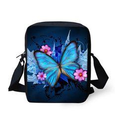 FORUDESIGNS Fashion Women Messenger Bags Butterfly Shoulder Travel Bag Girls Sunflower Crossbody Bag,Small Female Mini Handbag