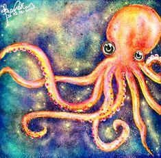 Octopus Painting, Octopus Art, Giant Squid, Nautical Nursery Decor, Beautiful Bugs, Grumpy Cat, Digital Art, Sketches, Deviantart