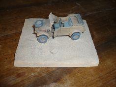 DAK Kübelwagen Tamiya , 1/48 scale , division Ramcke , El Alamein , octobre-novembre 1942 .