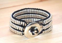 women leather braceletoriginal design uno de 50 by OtroAccesorio
