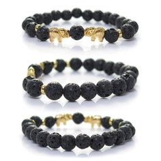 Lava Stone Elephant Bracelet by Kanti Design *** Want to know more, click on the image. (This is an affiliate link and I receive a commission for the sales)
