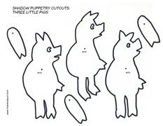 Cutouts wolf stories puppet patterns and shadow puppets printable shadow puppetry cutouts pronofoot35fo Gallery