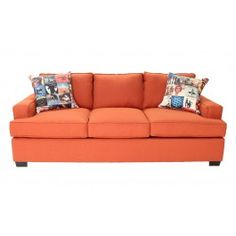 POP of color is needed!  Perfect orange color sofa.