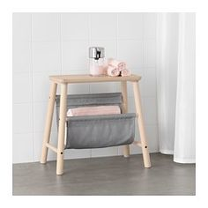 IKEA - VILTO, Storage stool, birch, , Birch is fine-grained and pale in color with a satin-like sheen that darkens with age. Birch often has knots or heartwood in cream or light brown giving a distinctive, natural look to your furniture.