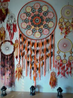 Mandala dream catcher, amazing gift for anyone who likes cool and unique things. and its perfect for wall decoration in any ambient. Usual crafting time for dreamcatcher mandala is 3-5 weeks, it requires a lot of time and patience Buyers can request customisation: different colors,