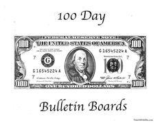 Classroom Freebies: 100 Day Bulletin Board Ideas
