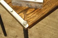 Detalle de una mesa madera-hierro@hotmail.com Somos muebles diferentes