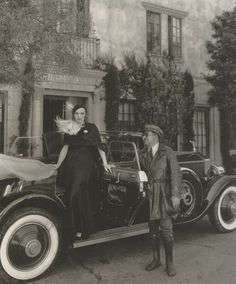 ralfbayer:  Marlene Dietrich  her chauffeur, Briggs, 1931. They're showing off the Rolls Royce given to her by Josef Von Sternberg. Briggs was known to carry two revolvers  wear a uniform with a mink collar as they tooled around Hollywood.