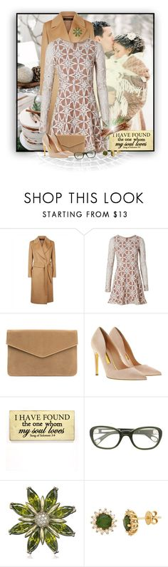 """""""Winter Wedding Guest"""" by loveroses123 ❤ liked on Polyvore featuring Jaeger, For Love & Lemons, Rupert Sanderson, Linda Farrow and Suzy Levian"""