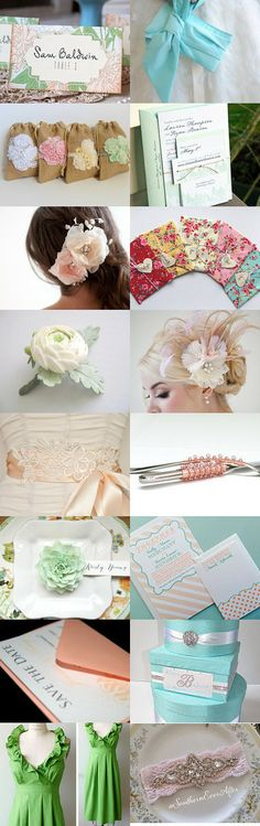 Pastel Wedding by blueorchidcreations on Etsy-- etsyweddingteam  https://www.etsyweddingteam.com