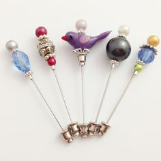 These pretty stick pins are not as difficult to make as they first appear. Great tutorial from peanutandolive.com