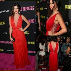 Real Photos Selena Gomez Fashion Red See Through Beading Lace Long Dress Hot Sale New Arrival Celebrity Dress Free Shipping 2013-in Celebrit...
