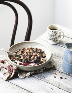 Granola with Blueberry Compote and Yogurt © Katie Quinn Davies