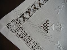Drawn Thread, Textile Design, Arts And Crafts, Textiles, Embroidery, Stitch, Linen Tablecloth, Sicilian, Home