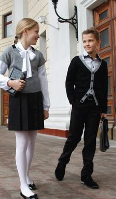 Russian school uniform, 2012. #education