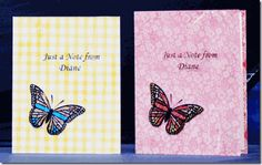 Note cards with butterflies