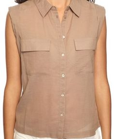 Sleeveless Collared Shirt  $15.80