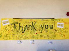 A west coast giant thank you note for School Lunch Hero Day! Healthy Schools, Superhero Ideas, Staff Appreciation, Thank You Notes, School Lunch, West Coast, School Stuff, Classroom Ideas, Grateful