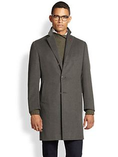ISAIA - Ross Wool & Angora Overcoat