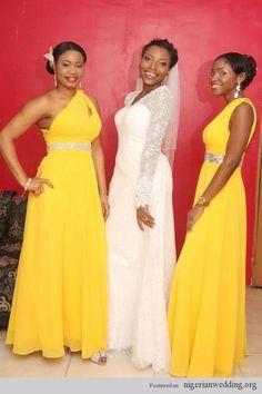 Stunning & Colorful Bridesmaids Dress Style Ideas | Nigerian Wedding