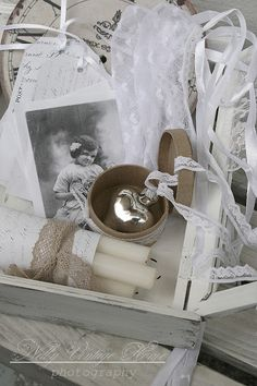 Prettiness... Love the lace and vintage look...