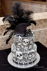 Skull cake!! So pretty!!