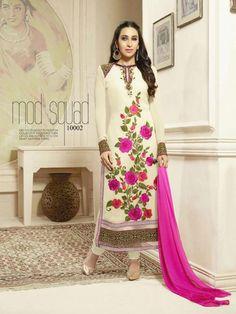 diva georgette nazmin salwar suits semi stitched