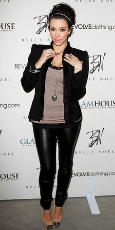 Kim Kardashian - fave outfit. Wish I could wear this and not get strange looks ;)