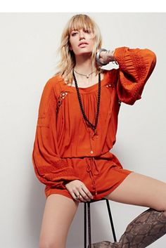 Free People Wonderland Flowy Romper at Free People Clothing Boutique
