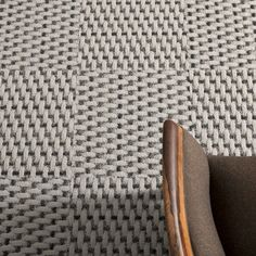 Love the texture of these multi-hued woven carpet tiles from FLOR