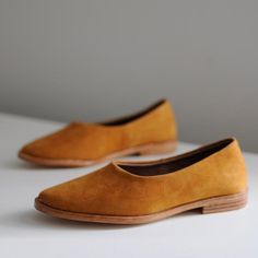 "Crafted with sturdy ""nubock"" suede in a honey-hued tan, a beautiful natural tan tone. These shoes are hand crafted and made in small batches, designed to last. Leather sole: 100% Vegetable tanned natu"