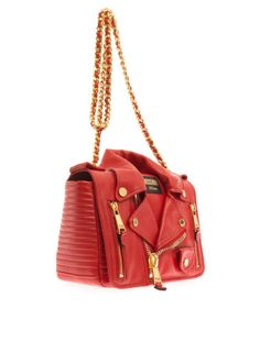 Love this: Bikerstyle Leather Shoulder Bag @Lyst