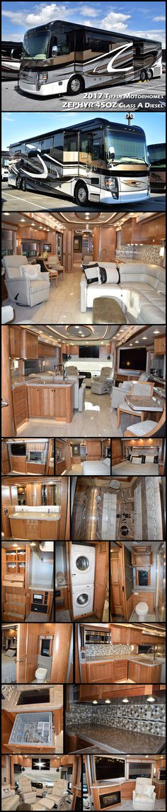 The Zephyr is Tiffin's most luxurious model, 45 feet of sumptuous grandeur loaded with more features than they have ever put into a motorhome. Truly Tiffin Motorhomes at its finest. 2017 TIFFIN MOTORHOMES ZEPHYR 45OZ Class A Diesel Motorhome