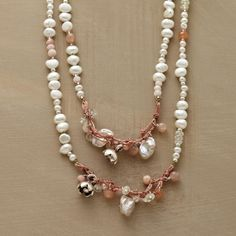 Peaches And Pearls Necklace in Spring Jewelry 2013 from Sundance on shop.CatalogSpree.com, my personal digital mall.