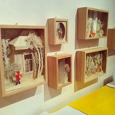 Princesse Camcam 3d Paper Art, Paper Artwork, Paper Book, Diy Paper, Paper Folding Crafts, Paper Crafts, Kirigami, Shadow Box Art, Picture Boxes