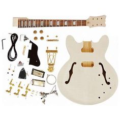The Unfinished Electric Guitar Kit Gives the Tools to Build Your Design #Rock #Music Jazz Guitar, Guitar Art, Music Guitar, Guitar Chords, Cool Guitar, Playing Guitar, Making Musical Instruments, Homemade Instruments, Music Instruments
