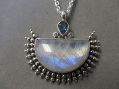 One of a Kind Sterling Silver Rainbow Moonstone by RichelleJewelry, $385.00