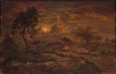 Le Prince Lointain: Théodore Rousseau (1812–1867), Coucher de Soleil p...