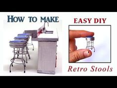 How to make miniature retro stools DIY/ doll house stools - YouTube