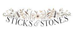 Sticks & Stones logo by Julianna Swaney, via Flickr