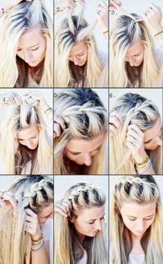 half up side french braid tutorial