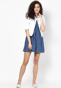 f3c23f450f4 Buy ONLY Blue Colored Printed Skater Dress Online - 3164814 - Jabong