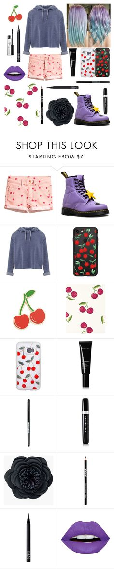 """🍒"" by georgyana7770 ❤ liked on Polyvore featuring Dr. Martens, Miss Selfridge, Casetify, Georgia Perry, Serena & Lily, Allies of Skin, Tweezerman, Marc Jacobs, Chico's and NARS Cosmetics"